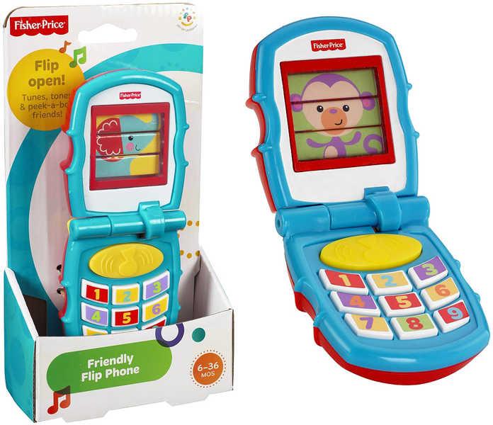 FISHER PRICE Telefon veselý Otevírací véčko Plast BABY