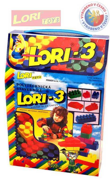 LORI 003 Stavebnice polytechnická 3, 50 ks kostek