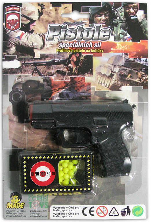 Pistole 10,5cm pružinová s kuličkami
