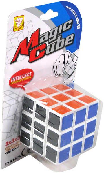 Kostka magická Rubikova skládačka na kartě
