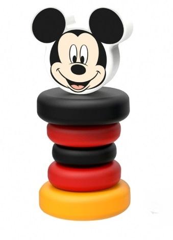 Dřevěná chrastítko Disney, Mickey Mouse, 5 x 5 x 12 cm