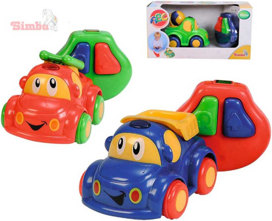 SIMBA Auto veselé obličej 11cm DO dálkové ovládání 3 barvy PLAST