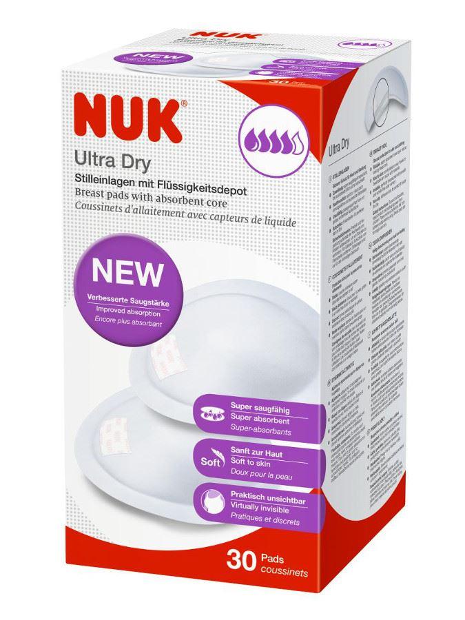 Laktační ultrasavé prsní vložky NUK 30 ks - bílá