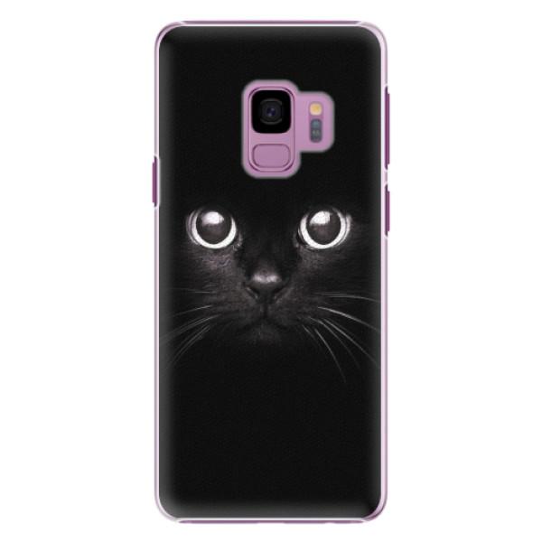 Plastové pouzdro iSaprio - Black Cat - Samsung Galaxy S9