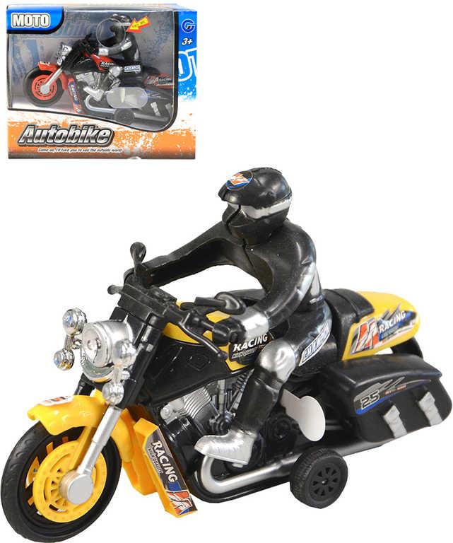 Motorka závodní 15cm motoyckl s jezdcem různé barvy na baterie Zvuk plast