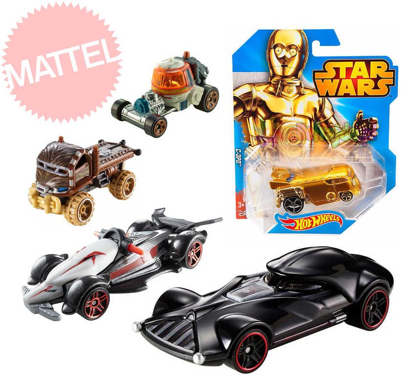 MATTEL HOT WHEELS Star Wars Auticka 5 druhů