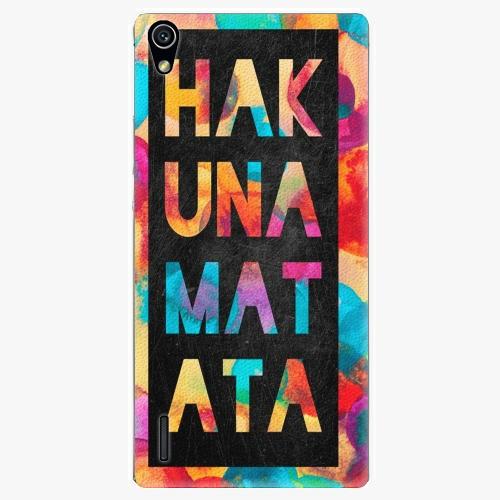 Plastový kryt iSaprio - Hakuna Matata 01 - Huawei Ascend P7