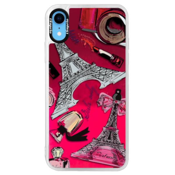 Neonové pouzdro Pink iSaprio - Fashion pattern 02 - iPhone XR