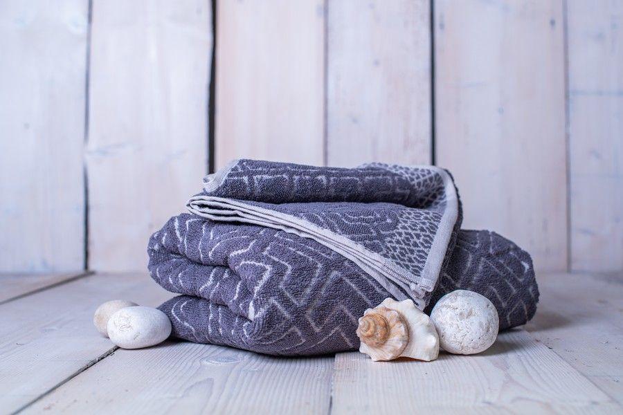 Set osuška + ručník Club - šedá
