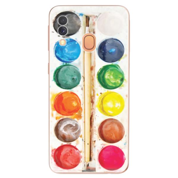 Odolné silikonové pouzdro iSaprio - Watercolors - Samsung Galaxy A40