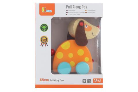 Dřevěná tahačka - pes