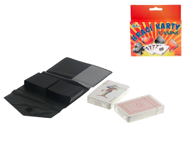 Karty hrací 108 ks v pouzdru Canasta, Prší, Žolíky apod.