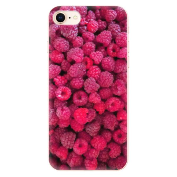 Odolné silikonové pouzdro iSaprio - Raspberry - iPhone 8
