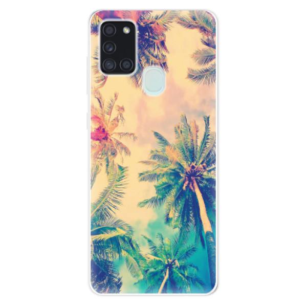 Odolné silikonové pouzdro iSaprio - Palm Beach - Samsung Galaxy A21s