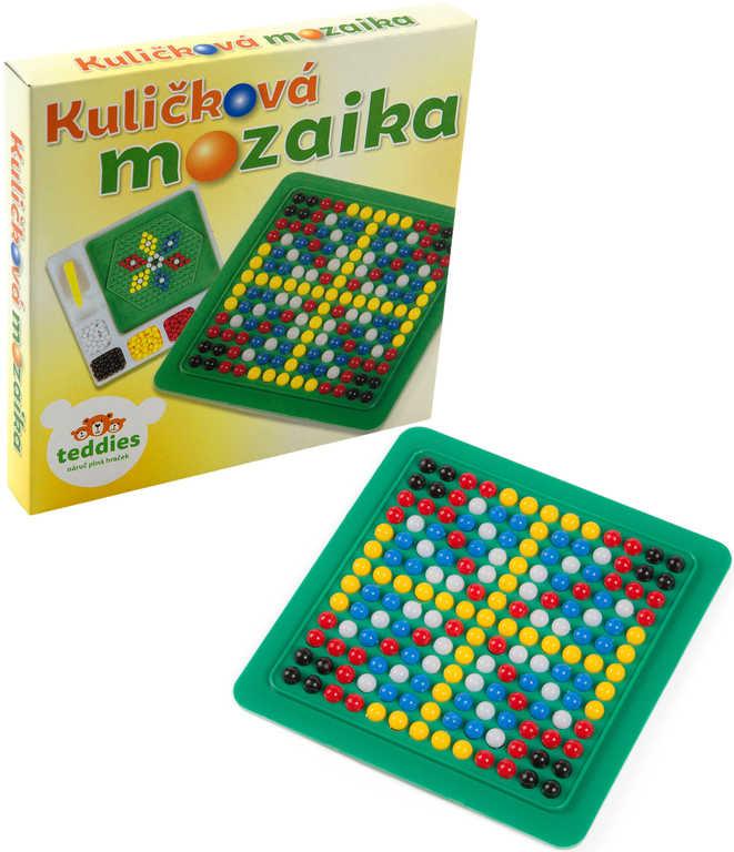Kuličková mozaika malá kreativní set 250ks kuliček s předlohami a pinzetou