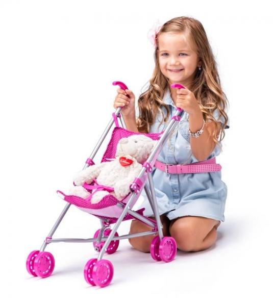 Sportovní kočárek pro panenky s jednorožcem