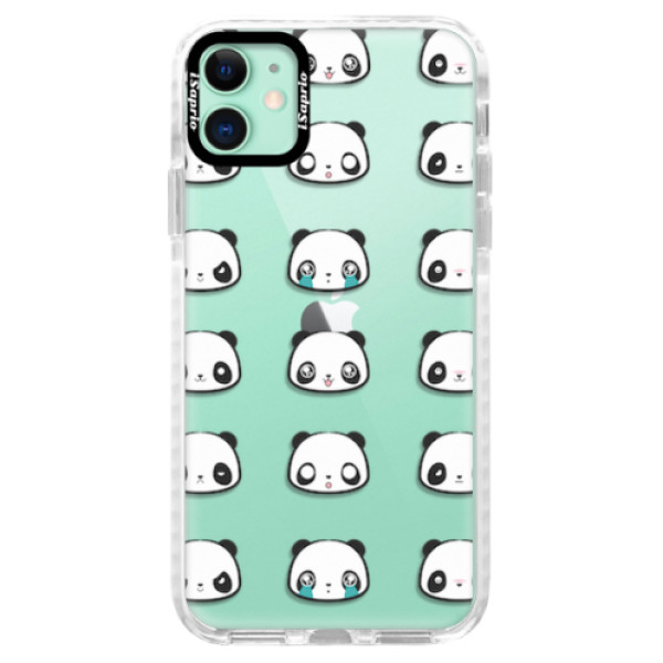 Silikonové pouzdro Bumper iSaprio - Panda pattern 01 - iPhone 11