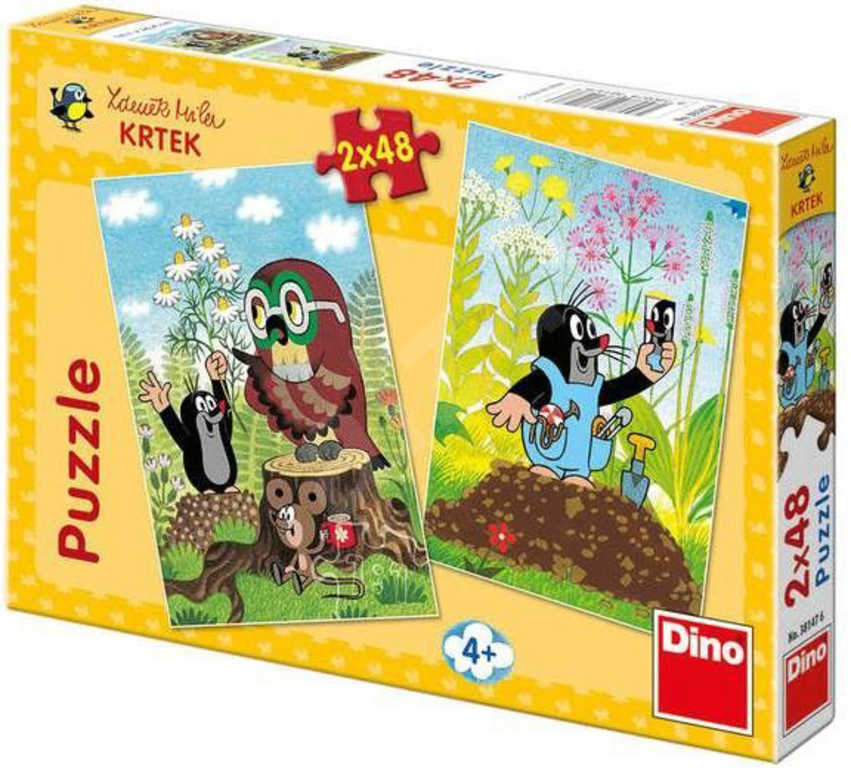 DINO Puzzle Krtek (Krteček) na Mýtině 2x48 dílků v krabici