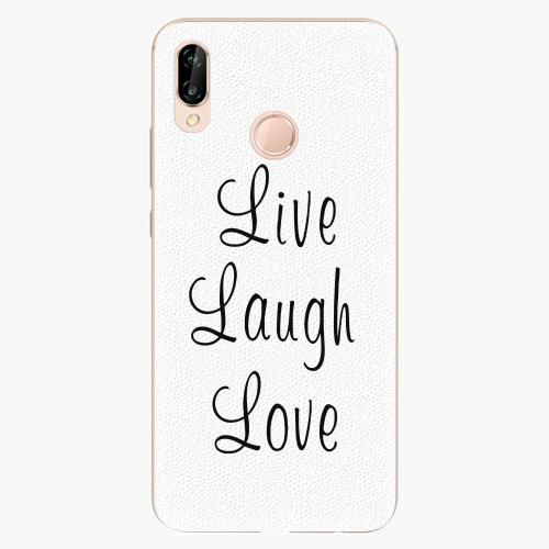 Plastový kryt iSaprio - Live Laugh Love - Huawei P20 Lite