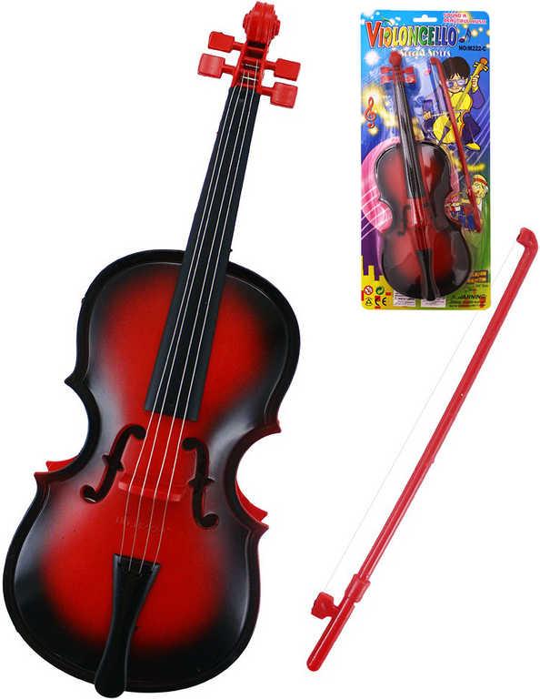 Housle dětské violoncello na baterie s melodií Zvuk *HUDEBNÍ NÁSTROJE*