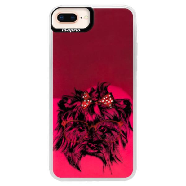 Neonové pouzdro Pink iSaprio - Dog 03 - iPhone 8 Plus