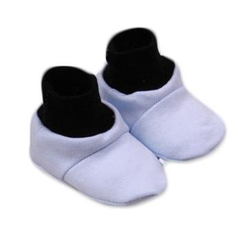 Botičky/ponožtičky,Little prince bavlna - modro/šedé - 0/6 měsíců