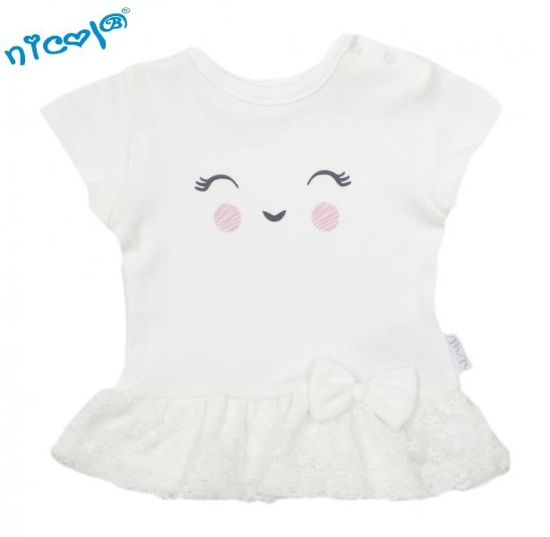Bavlněné tričko Lady - krátký