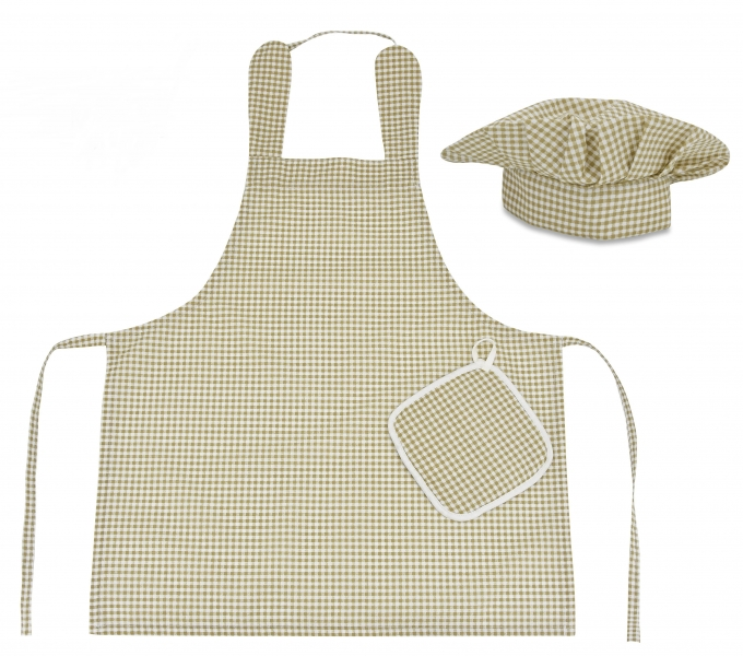 kucharska-sada-junior-masterchef-zastera-cepice-rukavice-hneda-vzor-kosticky