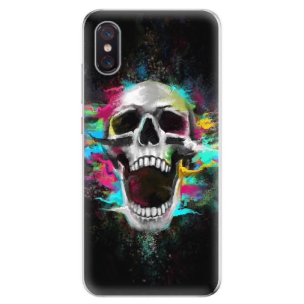 Odolné silikonové pouzdro iSaprio - Skull in Colors - Xiaomi Mi 8 Pro