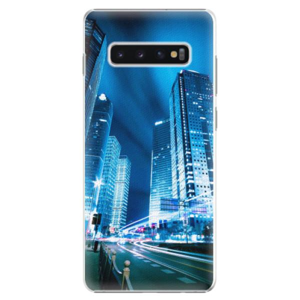Plastové pouzdro iSaprio - Night City Blue - Samsung Galaxy S10+