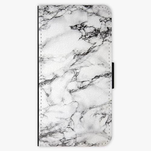 Flipové pouzdro iSaprio - White Marble 01 - Samsung Galaxy S9