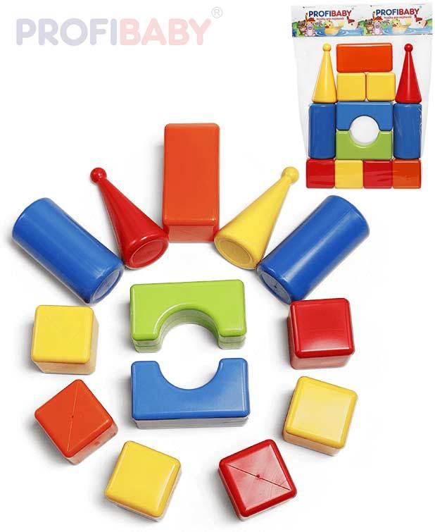 PROFIBABY Baby soft kostky lehké barevné Maxi set 13ks pro miminko plast