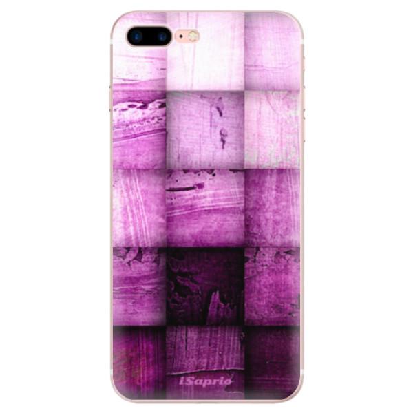 Odolné silikonové pouzdro iSaprio - Purple Squares - iPhone 7 Plus