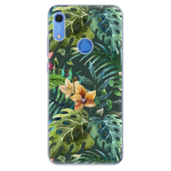 Odolné silikonové pouzdro iSaprio - Tropical Green 02 - Huawei Y6s