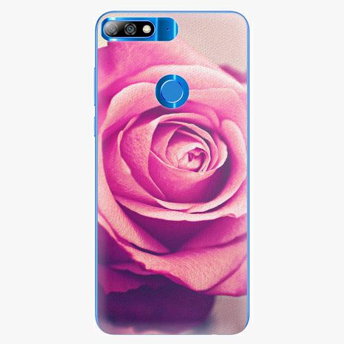 Silikonové pouzdro iSaprio - Pink Rose - Huawei Y7 Prime 2018