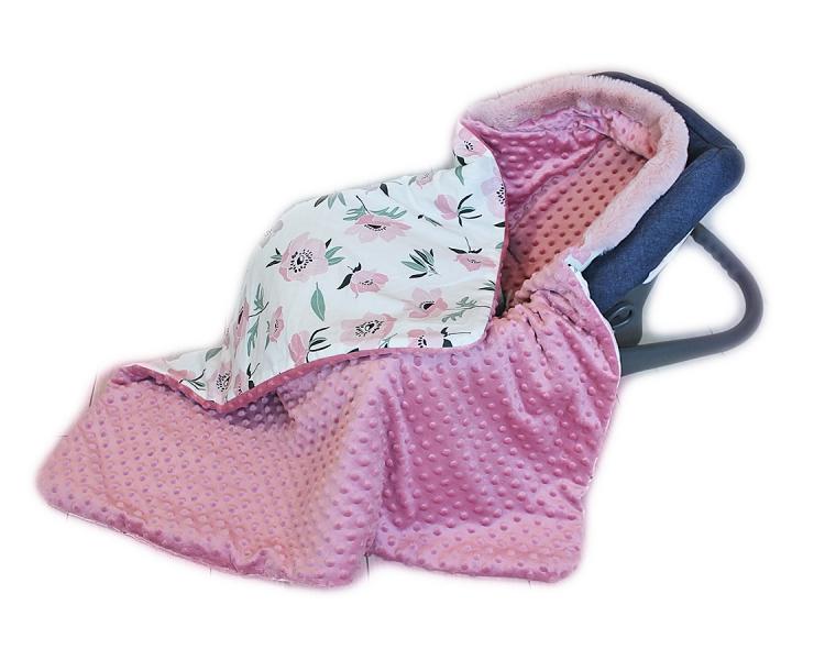 baby-nellys-bavlnena-oboustranna-decka-3v1-s-minky-a-kozesinkou-90x90-cm-kvitky