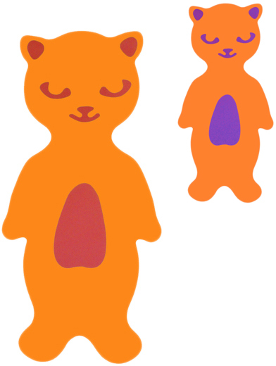MATUŠKA-DENA Plovák deska plavecká kočka 40x25cm 2 barvy