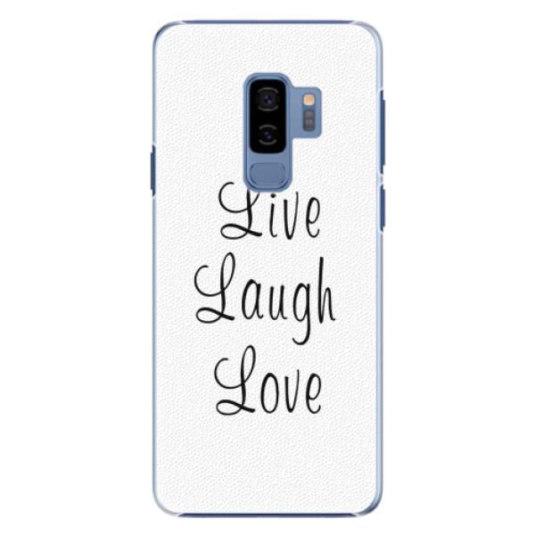 Plastové pouzdro iSaprio - Live Laugh Love - Samsung Galaxy S9 Plus