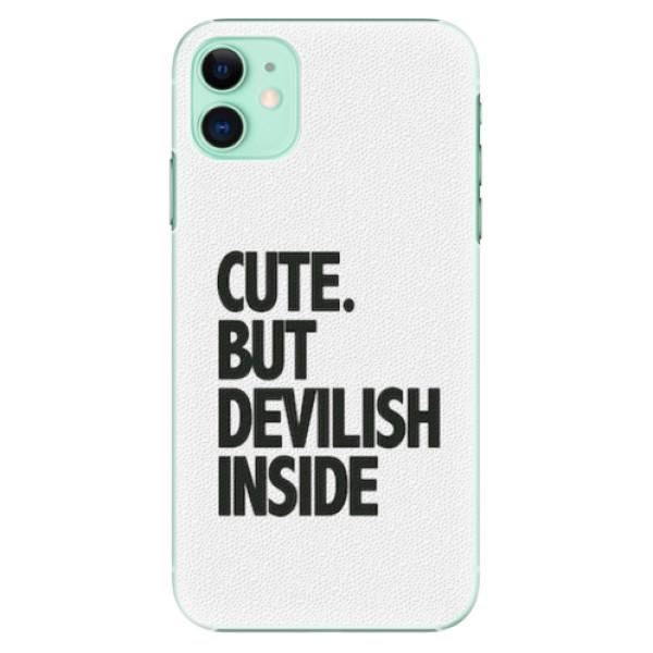 Plastové pouzdro iSaprio - Devilish inside - iPhone 11