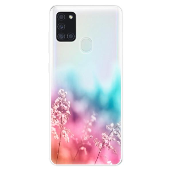 Odolné silikonové pouzdro iSaprio - Rainbow Grass - Samsung Galaxy A21s