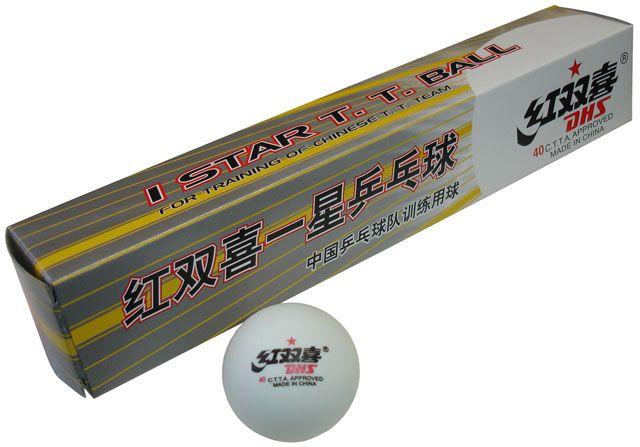 DOUBLE HAPPINESS 1star 6ks 40mm - míčky pro stolní tenis