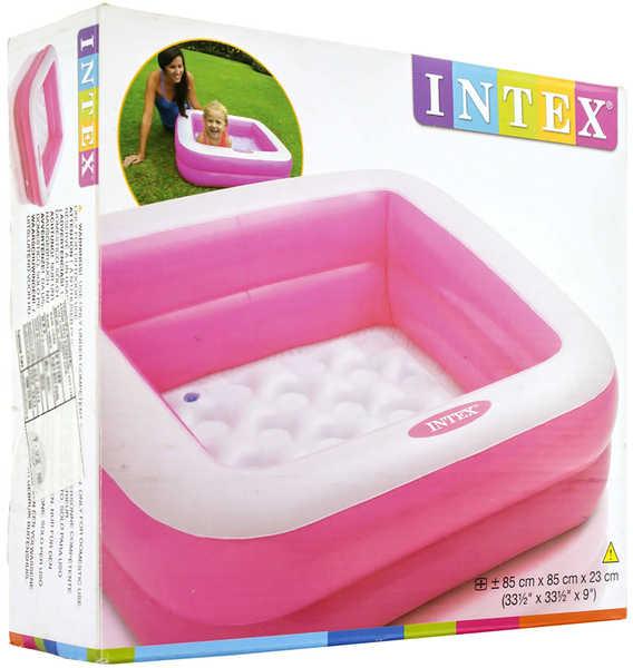 INTEX Bazén dětský nafukovací ČTVEREC 85x85cm 2 barvy 57100