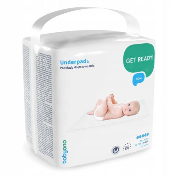 BabyOno Hygienická podložka na přebalování 40 x 60 cm - 20 ks