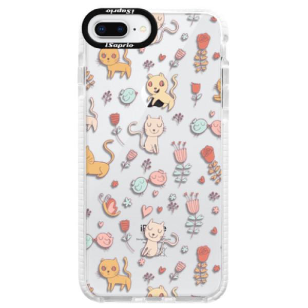 Silikonové pouzdro Bumper iSaprio - Cat pattern 02 - iPhone 8 Plus