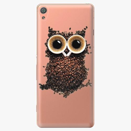 Plastový kryt iSaprio - Owl And Coffee - Sony Xperia XA