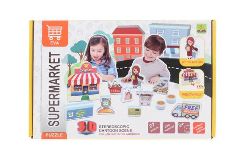 3D pěnové puzzle supermarket