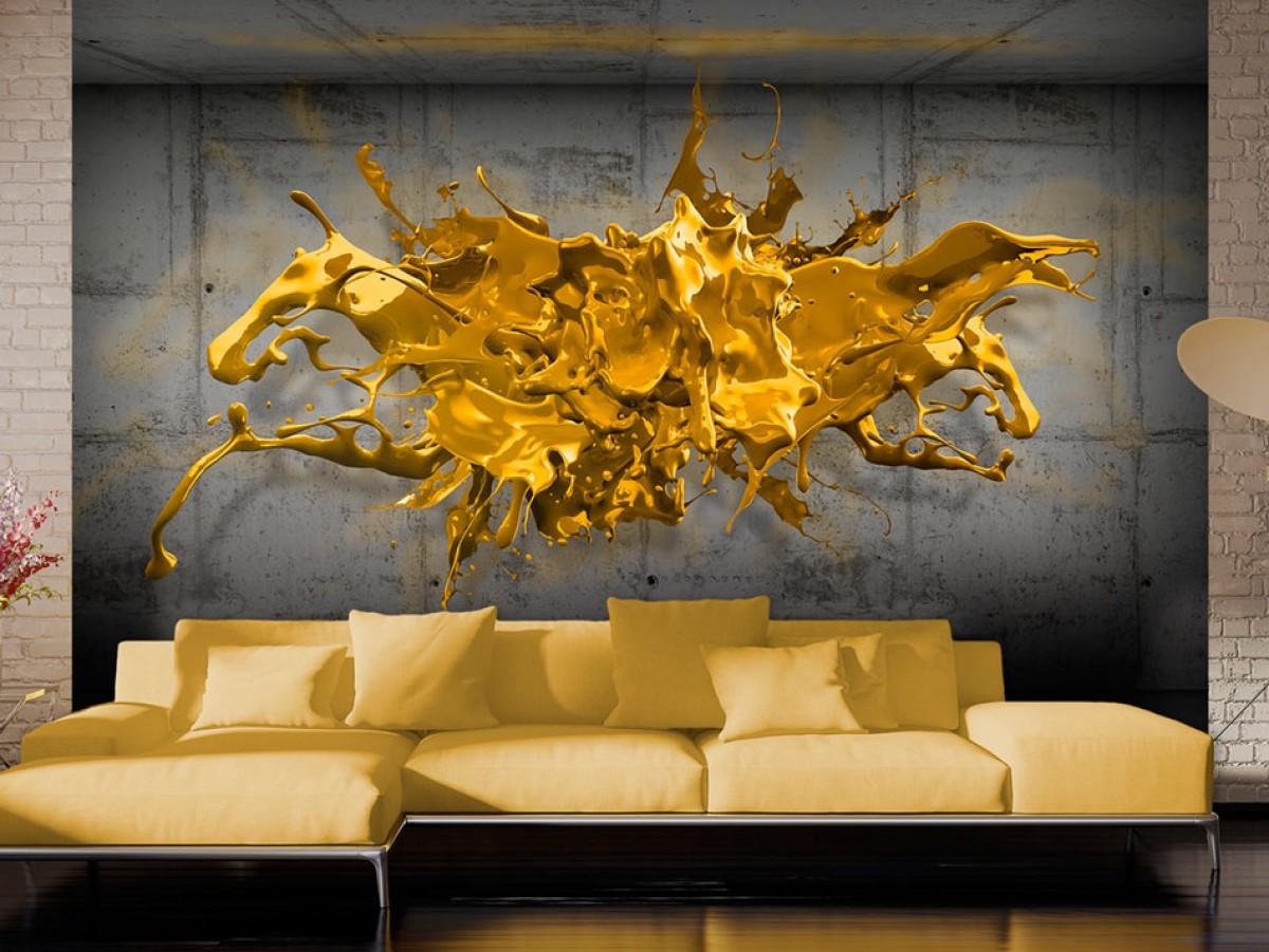 3D tapeta zlatá