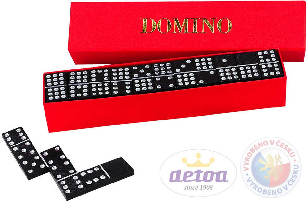 DETOA Hra Domino klasik 28 kamenů v krabičce *DŘEVĚNÉ HRAČKY*