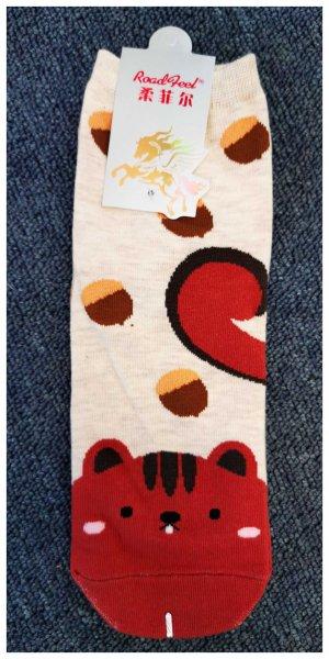 Ponožky s motivem zvířátek - Veverka