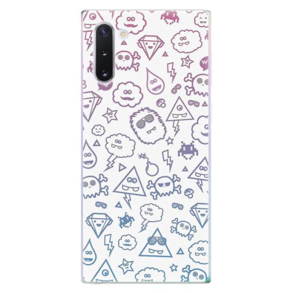 Odolné silikonové pouzdro iSaprio - Funny Clouds - Samsung Galaxy Note 10